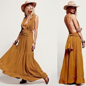 JEN'S PIRATE BOOTY Trailing Jade Maxi Dress size L